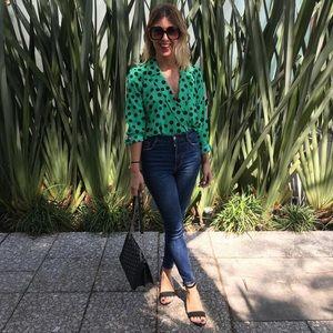 Bloggers favorite Zara polka dot blouse